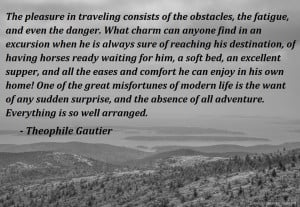 Travel Quote by Theophile Gautier.