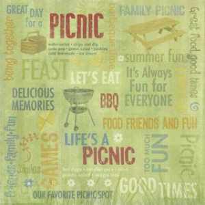 ... Picnic Family Reunion Collection - 12 x 12 Paper - Life's a Picnic