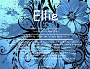 ellie local origin of name english from the greek name helen meaning ...