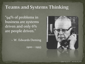 """Systems thinking. Search for the """"Red Bead Experiment"""" for more ..."""