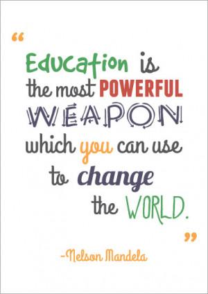 Inspirational Quotation Poster: Nelson Mandela | Free EYFS & KS1 ...