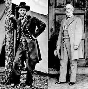 Ulysses S. Grant and Robert E. Lee,