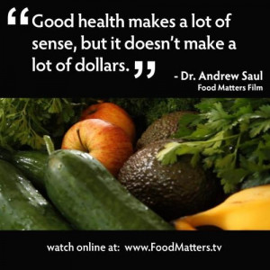 Andrew Saul quote about good #health