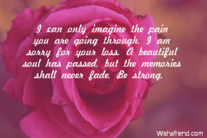 Sorry For Your Loss Quotes Father I am sorry for your loss.