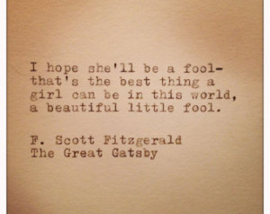 Great Gatsby Quotes About Love: Great Gatsby Love Quote On Etsy, A ...