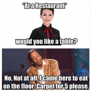 funny waitress