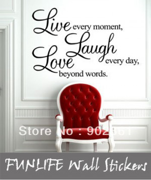 funlife]-Live Love Laugh vinyl Wall Quotes Lettering Saying Window ...