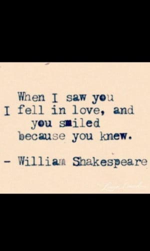 William Shakespeare quote...makes me think of the day my only child ...