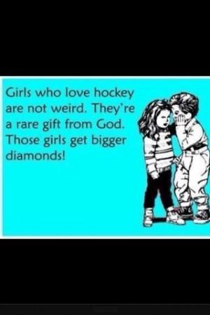 Girls Love Hockey Quotes