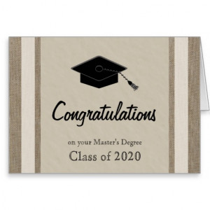 Graduation Cards Masters degree graduation card
