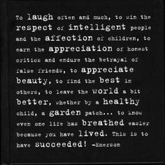 Emerson quote a professor and hockey player handed out to my ...