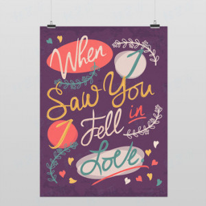 ... Typography Pop Poster Print Wall Quotes Decor Custom Canvas Painting