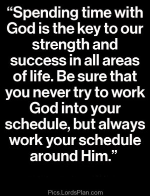 Spending Time with God Quotes