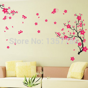 Romantic bedroom living room TV wall flowers large fashion ideas can