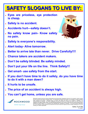 ... DO THAT IF I WERE YOU - OR WOULD I Funny Safety Slogans for the