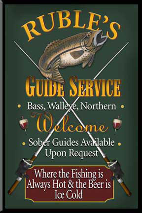 Personalized Fishing Bar Sign