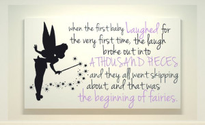 ... - Disney World Art - Canvas Painting - Fairies Quote - Peter Pan