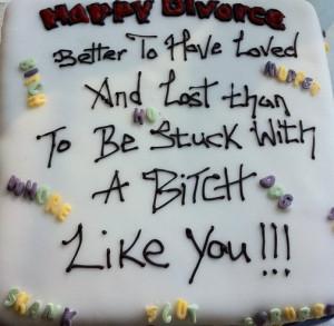 friend of mine just got divorced…