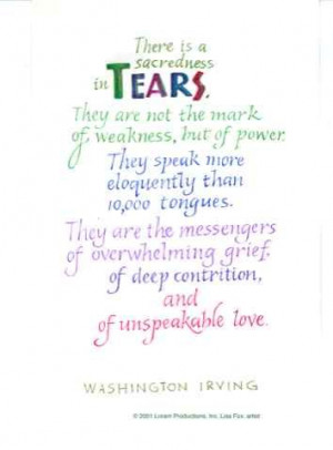 Loss Of A Loved One Quotes Tears washington irving quote