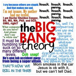 CafePress > Wall Art > Posters > Big Bang Quotes Poster