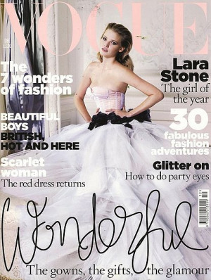 Lara Stone's December 2009 Vogue cover has been nominated in the ...