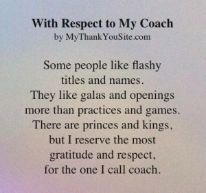 thank you poem to coaches. You can customize any one of our thank you ...