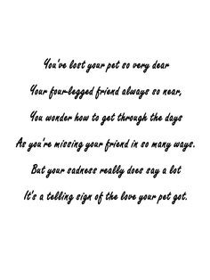 Pet Sympathy Card - LOSS Of A DOG - Dog Sympathy Card - Sympathy Card ...