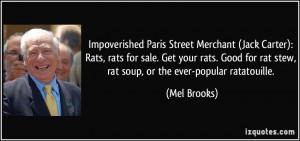 Carter): Rats, rats for sale. Get your rats. Good for rat stew, rat ...