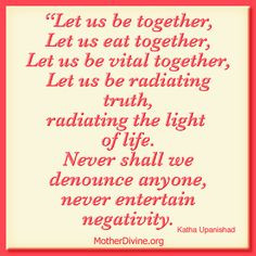 Sanskrit Quote, Let us be together... Katha Upanishad http ...