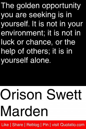 ... or the help of others it is in yourself alone # quotations # quotes