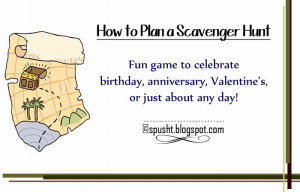 Scavenger Hunt Idea | How to Plan a Treasure Hunt for Birthday ...