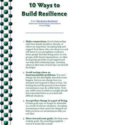 Resilience from &The Road to Resilience& - American Psychological ...