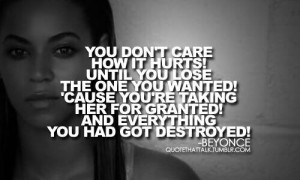 Don't take her ver granted