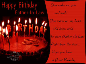 Happy Birthday To Father-in-law