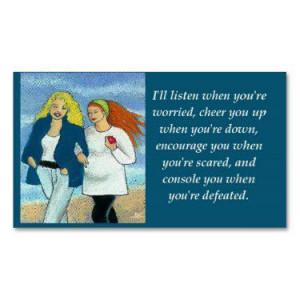 inspirational_friendship_love_wallet_size_card_business_card ...