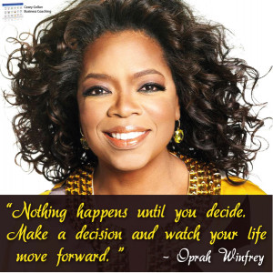 Oprah Winfrey Motivational Quote | Make a Decision