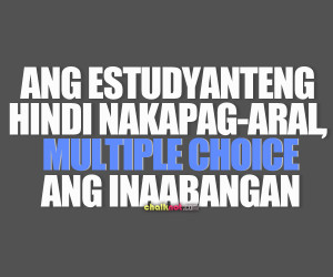 funnt tagalog quotes multiple choice