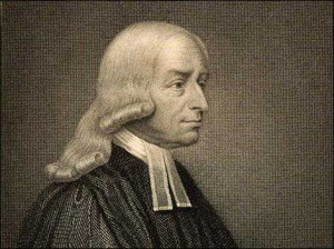 John Wesley - nice, long curly hair