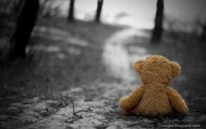 Teddy, bear, toy, sadness, alone