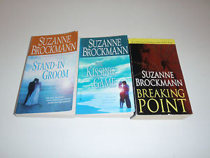 Lot of 3 Suzanne Brockmann The Kissing Game Stand in Groom Breaking