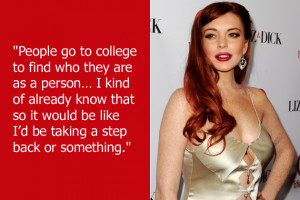 Lindsay Lohan knows exactly who she is and doesn't need a pesky ...
