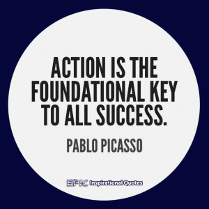Hustle Quotes For Instagram Action is the foundational key