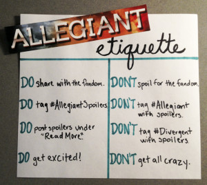 Countdown to ALLEGIANT: How to deal with a post-ALLEGIANT world.And if ...