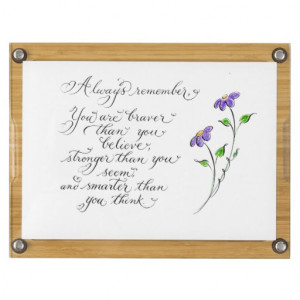 Inspirational quote calligraphy Always remember Rectangular ...