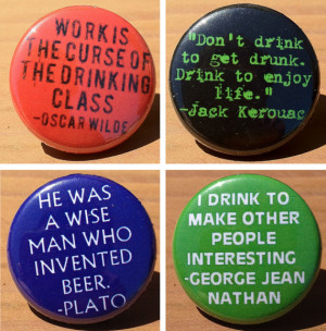 Drinking Quotes set of 4
