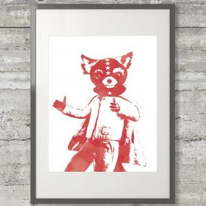 Fantastic Mr Fox Ash in a Mask 8x10 by PrintsAndPrintables on Etsy, $5 ...