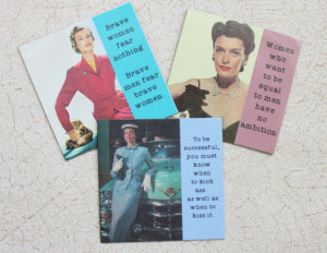 Magnets for Strong and Brave Women Funny Sassy Sayings