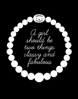 Classy Fabulous Girl Coco Chanel Quote Pearls ...: Girls, Classy, Coco ...