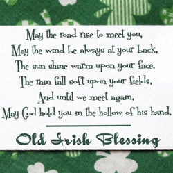 IN007 IRISH BLESSING Inspirational Wall Quote