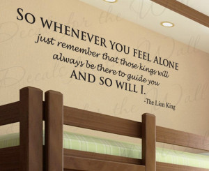 Lion King Disney Mufasa Wall Decal Quote